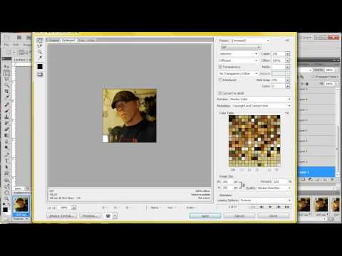 Animated profile gif using video clip with photoshop CS5