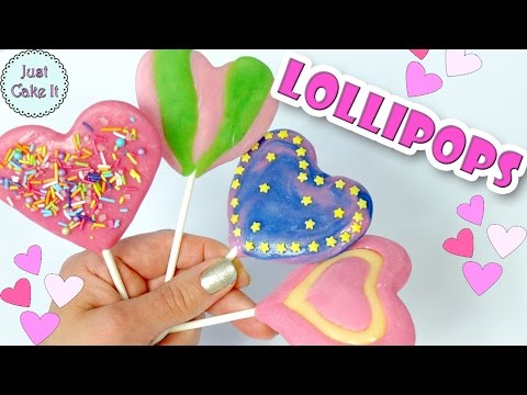 DIY Valentine's Day Lollipops! How to make lollipops without Corn Syrup