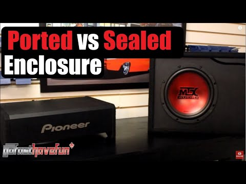 Ported vs Sealed Enclosure / Sub Box