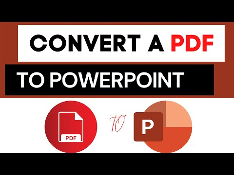 How do I Convert a PDF to PowerPoint