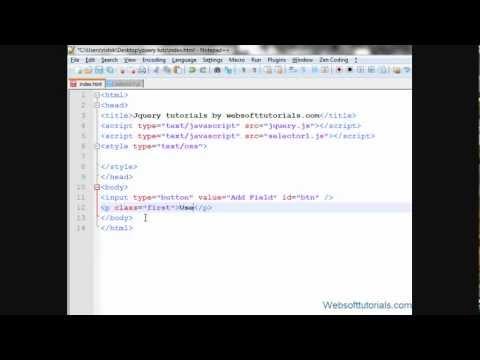 jquery tutorials in hindi / urdu - 43 -  dynamically add form fields using jquery