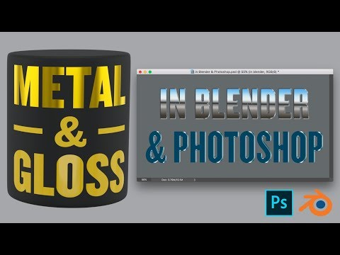 Metal and Gloss in Blender & Photoshop – Textures, Materials and Layer Styles