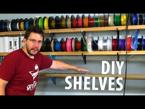 Practical 3D Printing Ideas: DIY Shelf Brackets! Filament Shelves!