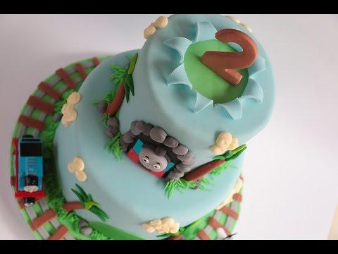 Thomas The Tank Engine Exploding Cake Tutorial- Rosie's Dessert Spot