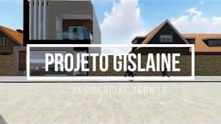 Passeio Virtual - Projeto Gislaine - Sobrado Residencial 160m^2