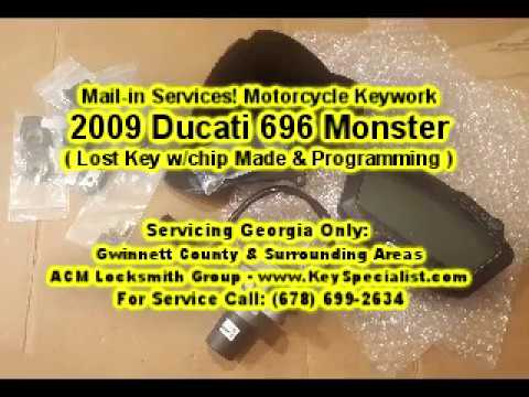 2009 Ducati Monster 696 - Lost Key Made & Chip Programming. Using our Mail-in Services.