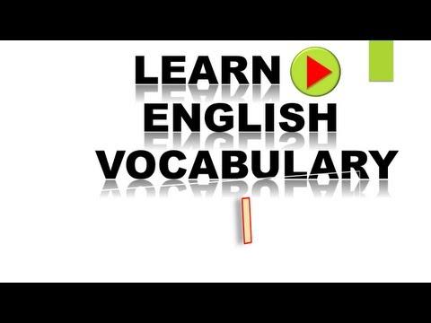 Learn English Vocabulary #2  I