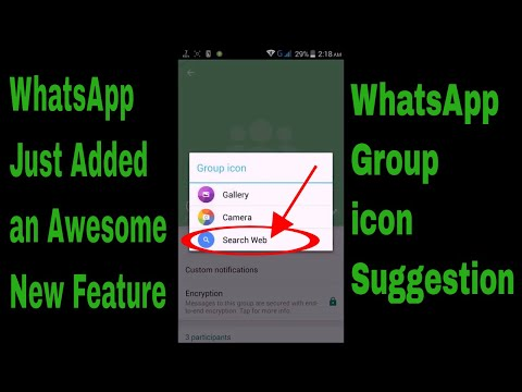 New WhatsApp Feature || WhatsApp Group Icon Suggestion || 2017