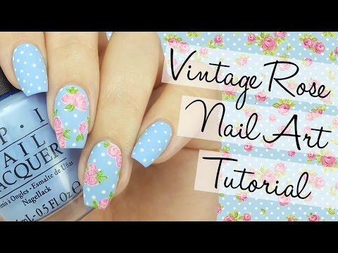 Vintage Rose Nail Art Tutorial