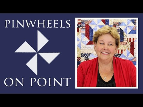 Pinwheels On Point with Fence Rail Quilt: Easy Quilting Tutorial with Jenny Doan of MSQC