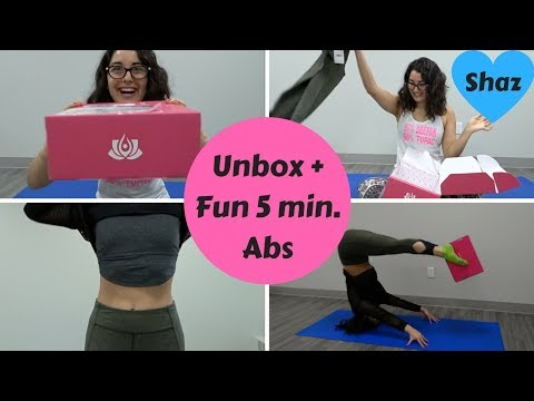 My First Fitness Subscription Box - YogaClub Unboxing + Fun 5 Min Abs!