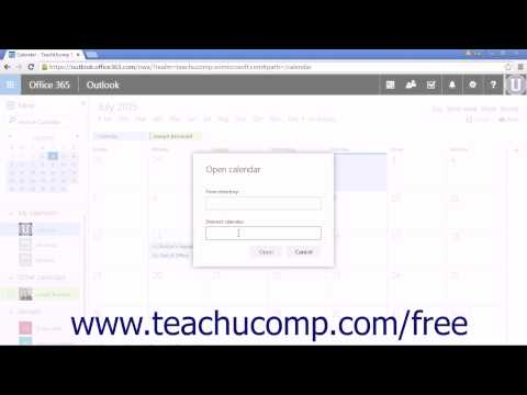 Outlook Web App Tutorial Adding Shared Calendars 2015 Microsoft Training