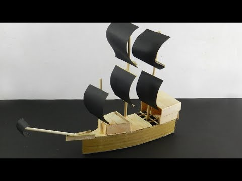6 Popsicle Stick Pirate Ship & Boat | DIY Toy for Kids (Easy & Quick)