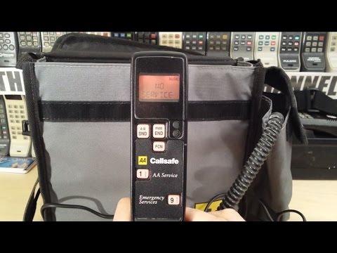 Classic emergency Novatel NVT1320 AA phone from May 1990.