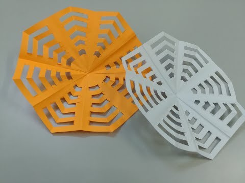 How to make a spider web out of paper - Easy