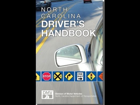 How to pass your North Carolina Drivers Test DMV cliff notes 2012 Part 2 of 3 Written part