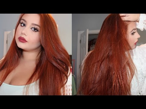 ♡ How To Dye Your Hair Copper Red ♡  (From Medium-Dark Brown)