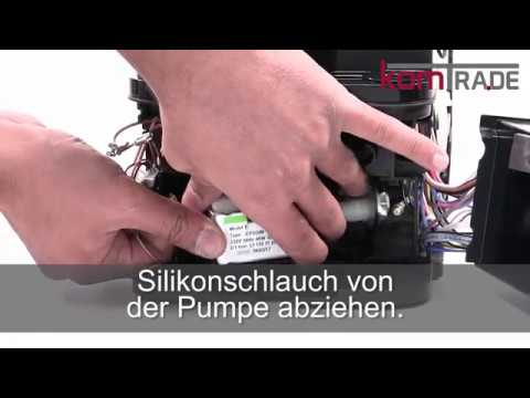 ETAM Pumpe ausbauen-ersetzen-tauschen Delonghi Ersatzteile Reparaturanleitung