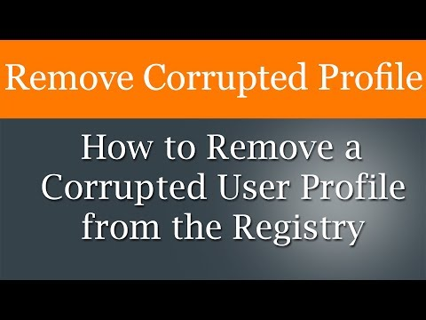 How to delete user account from registry in windows 7