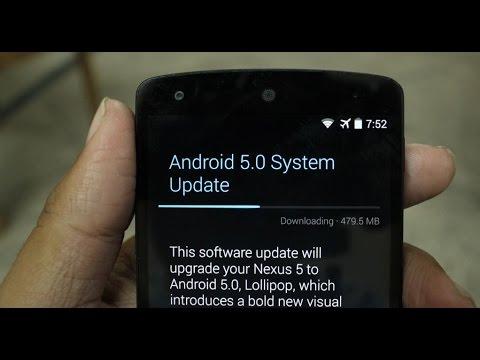 Update To Android 5.0 Lollipop | OTA Update | Nexus 5