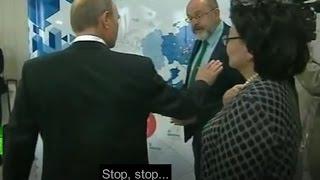 BBC journo interrupts Putin - gets put right back in place!