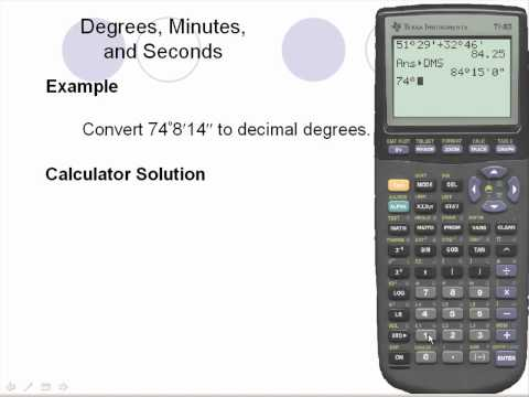 Ti-83 - Degrees, Minutes, and Seconds