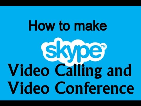 How To Make SKYPE Video Conference and Group Call Fast, STEP by STEP 2015