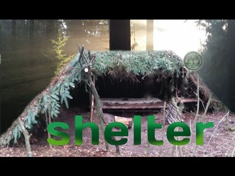 Building a natural shelter, complete instructions for a long term lean-to shelter