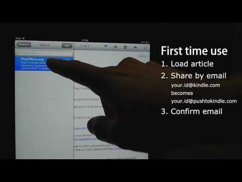 Push to Kindle on iPad and iPhone: Send web articles to your Kindle