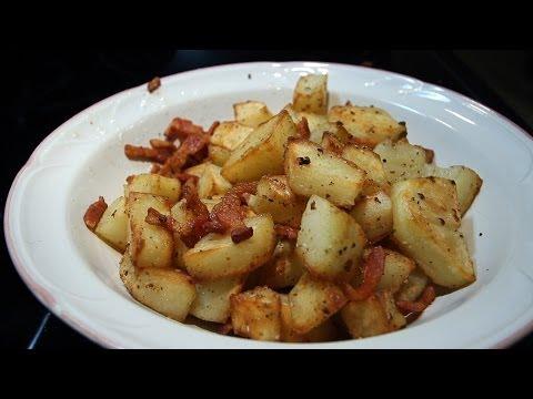 Home Fries or Texas Tators Crispy Fried Potatoes with Bacon