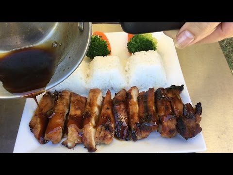 How To Make Grilled Teriyaki Chicken-Japanese Food Recipes-Outdoor Cooking Garden