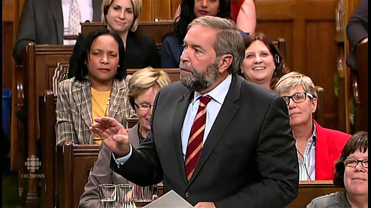 Tom Mulcair questions Speaker's 'neutrality' RAW