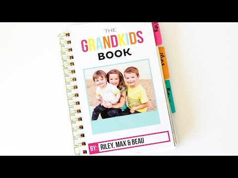 DIY Spiral Bound Book for Grandma