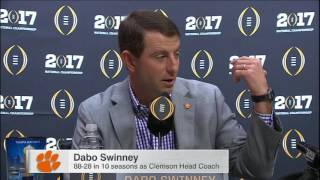 Dabo gave Saban gift card after loss, promised a rematch