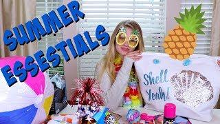 SUMMER ESSENTIALS MYSTERY BOX FT DINKYLANDTV || Taylor and Vanessa