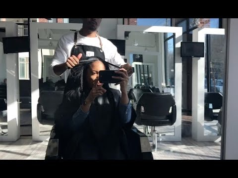 STRAIGHTING NATURAL HEAT DAMAGED HAIR   VLOG 8