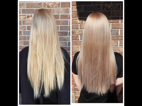 Going from yellow to platinum blonde (Bleach and Tone)