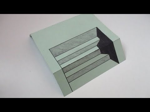How to Draw 3D Steps on Paper step by step tutorial for Kids