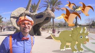 Download Blippi Dinosaur Surprise Egg Hunt | Dinosaurs for Kids Video