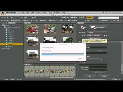 Creating a Web Photo Gallery With Adobe Photoshop CS6