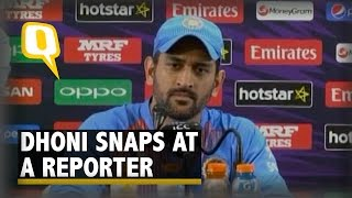After Bangladesh Win, MS Dhoni Snaps at a Reporter