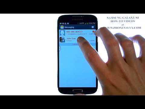 Samsung Galaxy S4 - How Do I Delete Text Messages