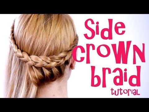 One Side Crown Braid Tutorial