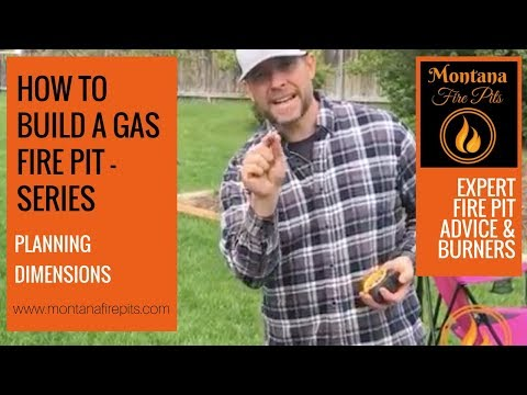 How to Build a Gas Fire Pit (Series) - Planning Dimensions