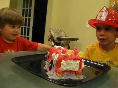 Fire Truck Cake For Fireman Sam
