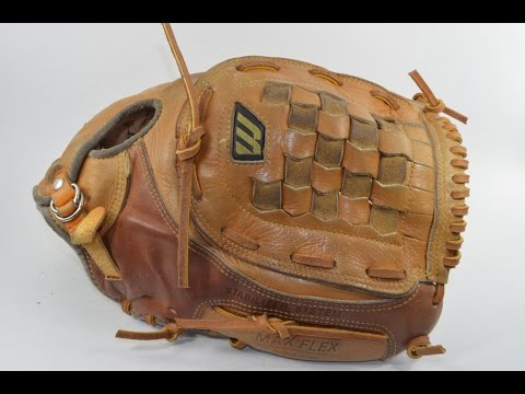 Mizuno MT3600 Baseball Glove Relace - Before and After Glove Repair