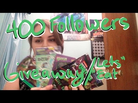 400 Followers TMNT giveaway & lets eat