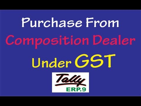 GST PURCHASES FROM COMPOSITION DEALER in Tally ERP.9 || Purchase Entries