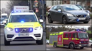 British Emergency Vehicles responding - BEST OF MARCH 2018