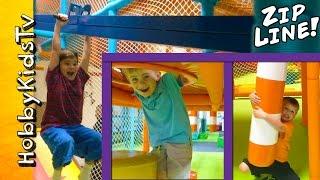 Indoor Zip-Line Playground with HobbyKidsTV